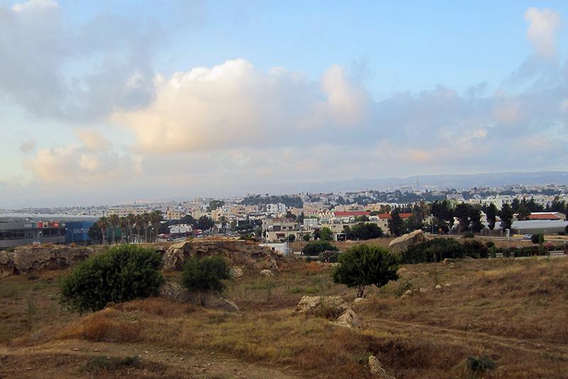 Paphos Katakomberne - udsigt